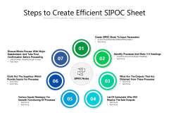 Steps To Create Efficient SIPOC Sheet Ppt PowerPoint Presentation Infographic Template Gridlines PDF