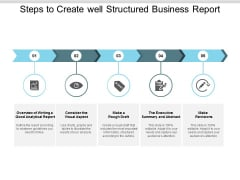 Steps To Create Well Structured Business Report Ppt PowerPoint Presentation Ideas Gridlines