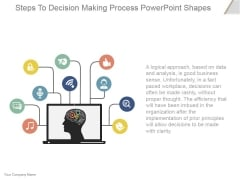 Steps To Decision Making Process Ppt PowerPoint Presentation Designs