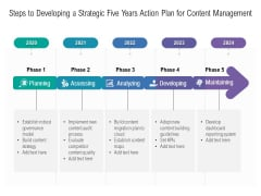 Steps To Developing A Strategic Five Years Action Plan For Content Management Microsoft