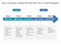 Steps To Developing A Strategic Half Yearly Action Plan For Content Management Template