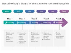 Steps To Developing A Strategic Six Months Action Plan For Content Management Formats