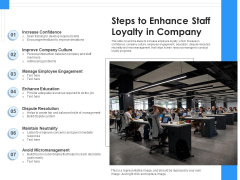 Steps To Enhance Staff Loyalty In Company Ppt PowerPoint Presentation Pictures Inspiration PDF