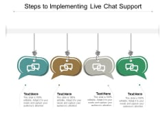 Steps To Implementing Live Chat Support Ppt PowerPoint Presentation Gallery Maker