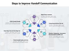 Steps To Improve Handoff Communication Ppt PowerPoint Presentation Summary Icons