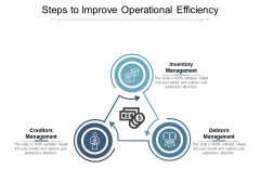 Steps To Improve Operational Efficiency Ppt PowerPoint Presentation Gallery Styles