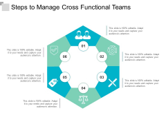 steps to manage cross functional teams ppt powerpoint presentation file information