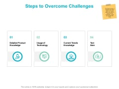 Steps To Overcome Challenges Ppt PowerPoint Presentation Slides Visual Aids