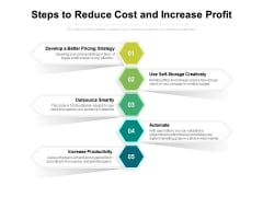 Steps To Reduce Cost And Increase Profit Ppt PowerPoint Presentation Pictures Structure PDF