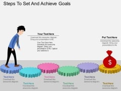 Steps To Set And Achieve Goals Powerpoint Templates