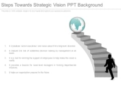 Steps Towards Strategic Vision Ppt Background