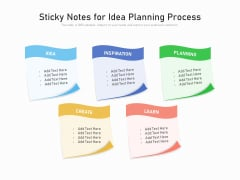 Sticky Notes For Idea Planning Process Ppt PowerPoint Presentation Gallery Outfit PDF