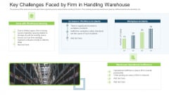 Stock Control System Key Challenges Faced By Firm In Handling Warehouse Ppt Design Templates PDF