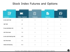 Stock Index Futures And Options Ppt PowerPoint Presentation Outline Skills