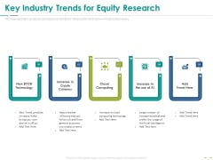 Stock Market Research Report Key Industry Trends For Equity Research Mockup PDF