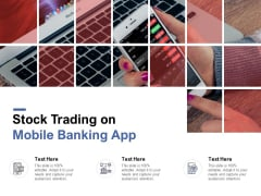 Stock Trading On Mobile Banking App Ppt PowerPoint Presentation Layouts Infographic Template