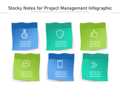 Stocky Notes For Project Management Infographic Ppt PowerPoint Presentation Gallery Deck PDF