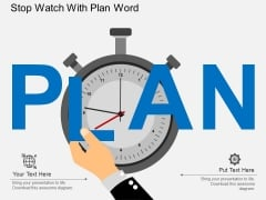 Stop Watch With Plan Word Powerpoint Template