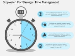 Stopwatch For Strategic Time Management Powerpoint Templates