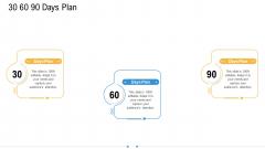 Storage Logistics 30 60 90 Days Plan Portrait PDF