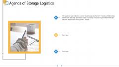 Storage Logistics Agenda Of Storage Logistics Infographics PDF