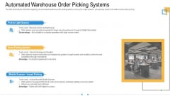 Storage Logistics Automated Warehouse Order Picking Systems Download PDF