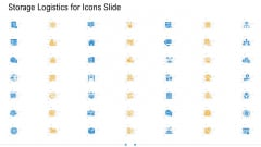 Storage Logistics For Icons Slide Elements PDF