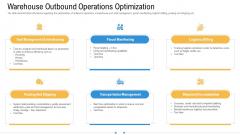 Storage Logistics Warehouse Outbound Operations Optimization Portrait PDF