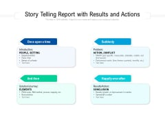 Story Telling Report With Results And Actions Ppt PowerPoint Presentation File Demonstration PDF