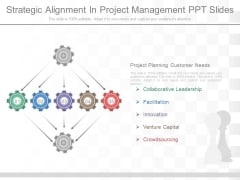 Strategic Alignment In Project Management Ppt Slides