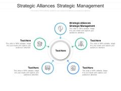Strategic Alliances Strategic Management Ppt PowerPoint Presentation Show Design Ideas Cpb