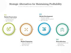 Strategic Alternatives For Maintaining Profitability Ppt PowerPoint Presentation Gallery Example PDF