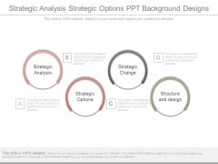 Strategic Analysis Strategic Options Ppt Background Designs