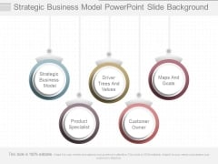 Strategic Business Model Powerpoint Slide Background