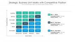 Strategic Business Unit Matrix With Competitive Position Ppt Icon Inspiration PDF