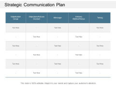 Strategic Communication Plan Ppt Powerpoint Presentation Ideas Graphics Example