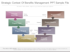 Strategic Context Of Benefits Management Ppt Sample File