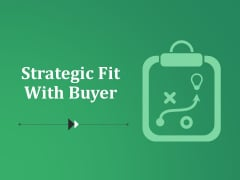 Strategic Fit With Buyer Ppt PowerPoint Presentation Ideas Design Inspiration