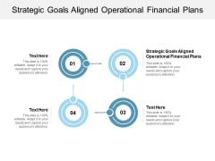 Strategic Goals Aligned Operational Financial Plans Ppt PowerPoint Presentation Portfolio Show Cpb