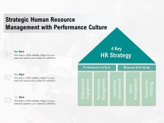 Strategic Human Resource Management With Performance Culture Ppt PowerPoint Presentation Show Portrait