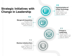 Strategic Initiatives With Change In Leadership Ppt PowerPoint Presentation Icon Tips PDF