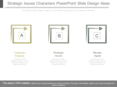 Strategic Issues Characters Powerpoint Slide Design Ideas
