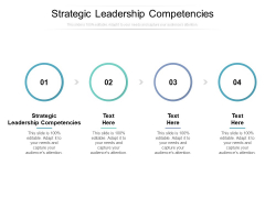 Strategic Leadership Competencies Ppt PowerPoint Presentation Pictures Shapes Cpb