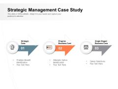 Strategic Management Case Study Ppt PowerPoint Presentation Ideas Designs