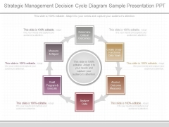 Strategic Management Decision Cycle Diagram Sample Presentation Ppt