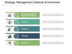 Strategic Management External Environment Ppt PowerPoint Presentation Portfolio Objects Cpb