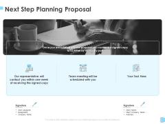 Strategic Management Next Step Planning Proposal Ppt Professional Graphics Example PDF