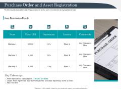 Strategic Management Of Assets Purchase Order And Asset Registration Diagrams PDF