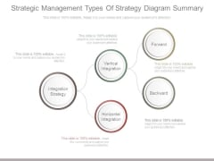 Strategic Management Types Of Strategy Diagram Summary