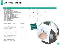 Strategic Manpower Management Exit Survey Template Formats PDF